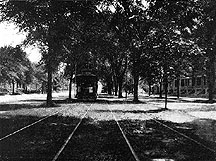 Photo of Thoroughfare with Street Railway