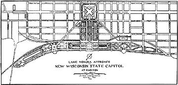 Drawing of General Plan of Proposed Approach to Capitol