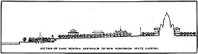 Drawing of Sectional View of Lake Monona Approach