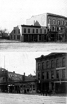 Photos of Carroll and Pinckney Streets, opposite the Capitol