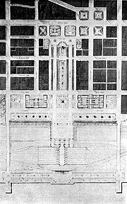 Drawing of public Buildings Group, Cleveland
