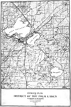 Map: General Plan For District of the Four Lakes