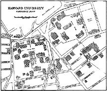 Drawing of Plan of Harvard University