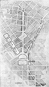 Drawing of proposed approaches to State Capitol, St. Paul