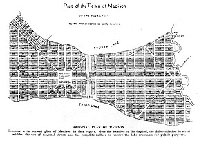 Drawing of original Plan of Madison