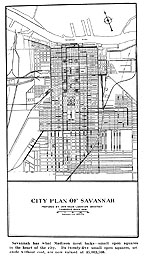Drawing of original Plan of Savannah, Ga.