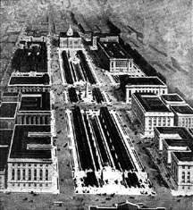 Drawing of proposed Public Buildings Group, St. Louis