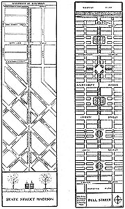 Drawings of Plan for Improvement of State Street; Bull Street, Savannah