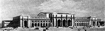 Drawing of New Union Depot, Washington, D. C.