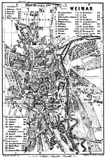 Plan of Weimar, Germany