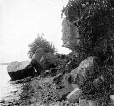 Photo of old Man's Face, Lake Mendota
