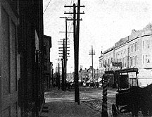 Photo of State Street, Madison, poles and wires