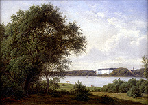 Color painting of Sorø Sø, small version.