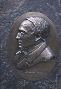 Color photo of monument medallion, small version.