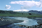 Color photo of Snæfellsjökull, small version.