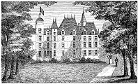 Engraving of Château d'Eu, small version.
