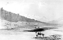 Lithograph of Þingvellir in 1836, small version.