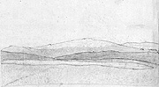 Jónas's sketch of Mount Broadshield, small version.