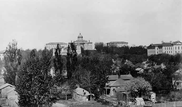 Image of Bascom Hill and University 1875-80(?)