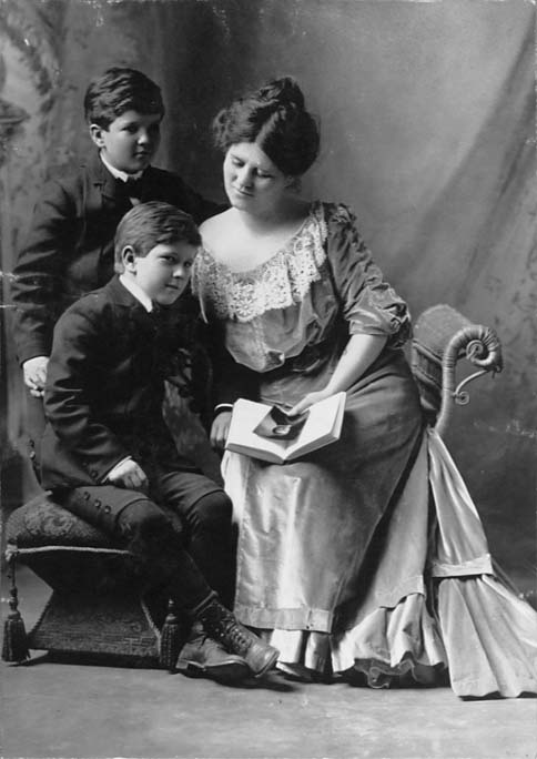 Image of Belle LaFollette with Sons
