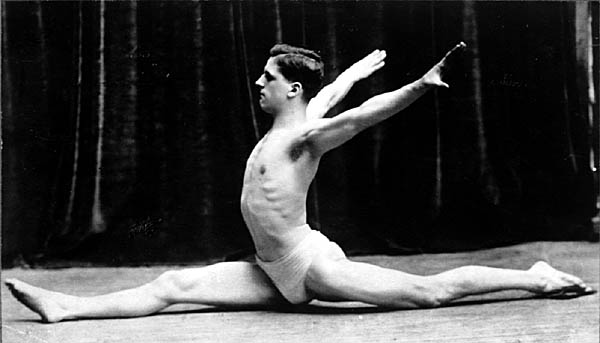 Image of Young Man in Splits