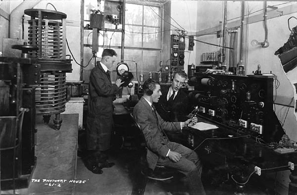 Image of Radio Room Broadcasting 'Haresfoot'