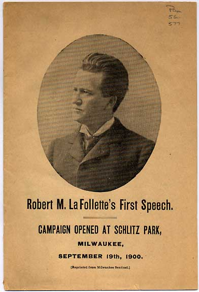 Image of Robert La Follette's First Speech