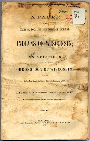 Image of Indians of Wisconsin