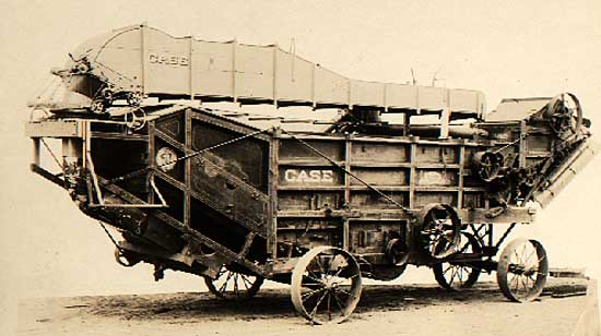 Image of Case threshing machine