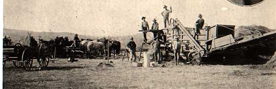 Image of Threshing scene