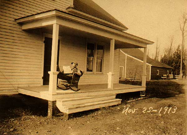 Image of Man on Porch