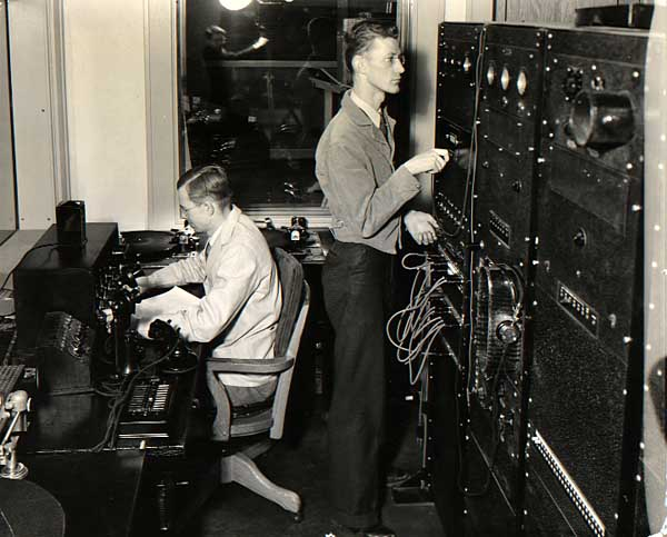 Image of Two Men in Radio Room
