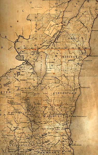 Image of Wisconsin Sectional Map