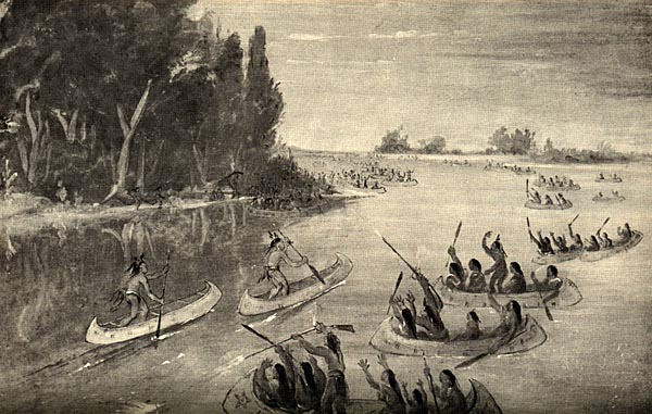 Image of Indian canoe race