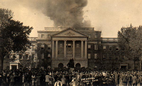 Image of Bascom Hall Dome Fire