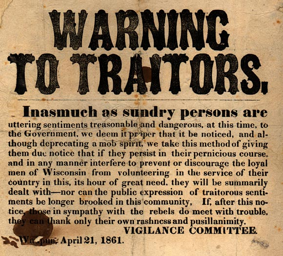 Image of Warning to Traitors