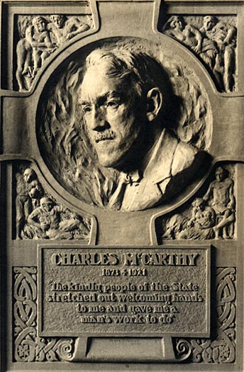 Image of Charles McCarthy Plaque