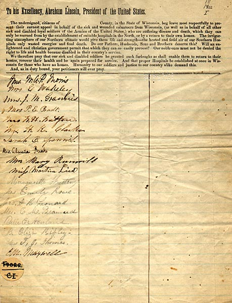 Image of Petition to Abraham Lincoln