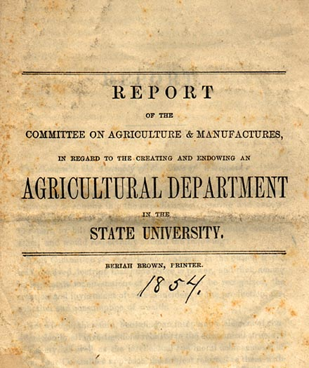 Image of Institution of the UW Agricultural Department