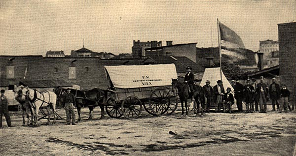 Image of Sanitary Commission Wagons
