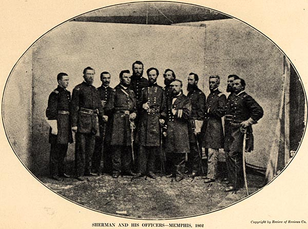 Image of Sherman and His Officers