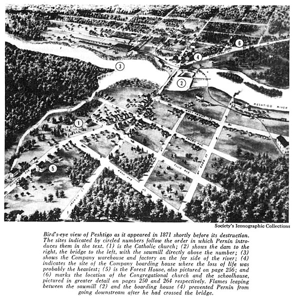 Image of Bird's-eye view of Peshtigo