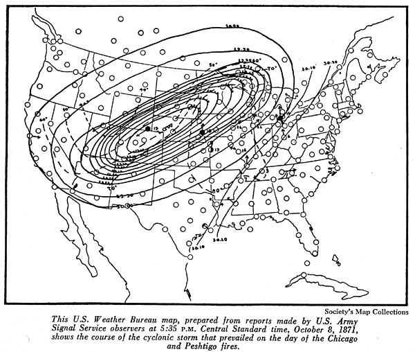 Image of U. S. Weather Bureau Map